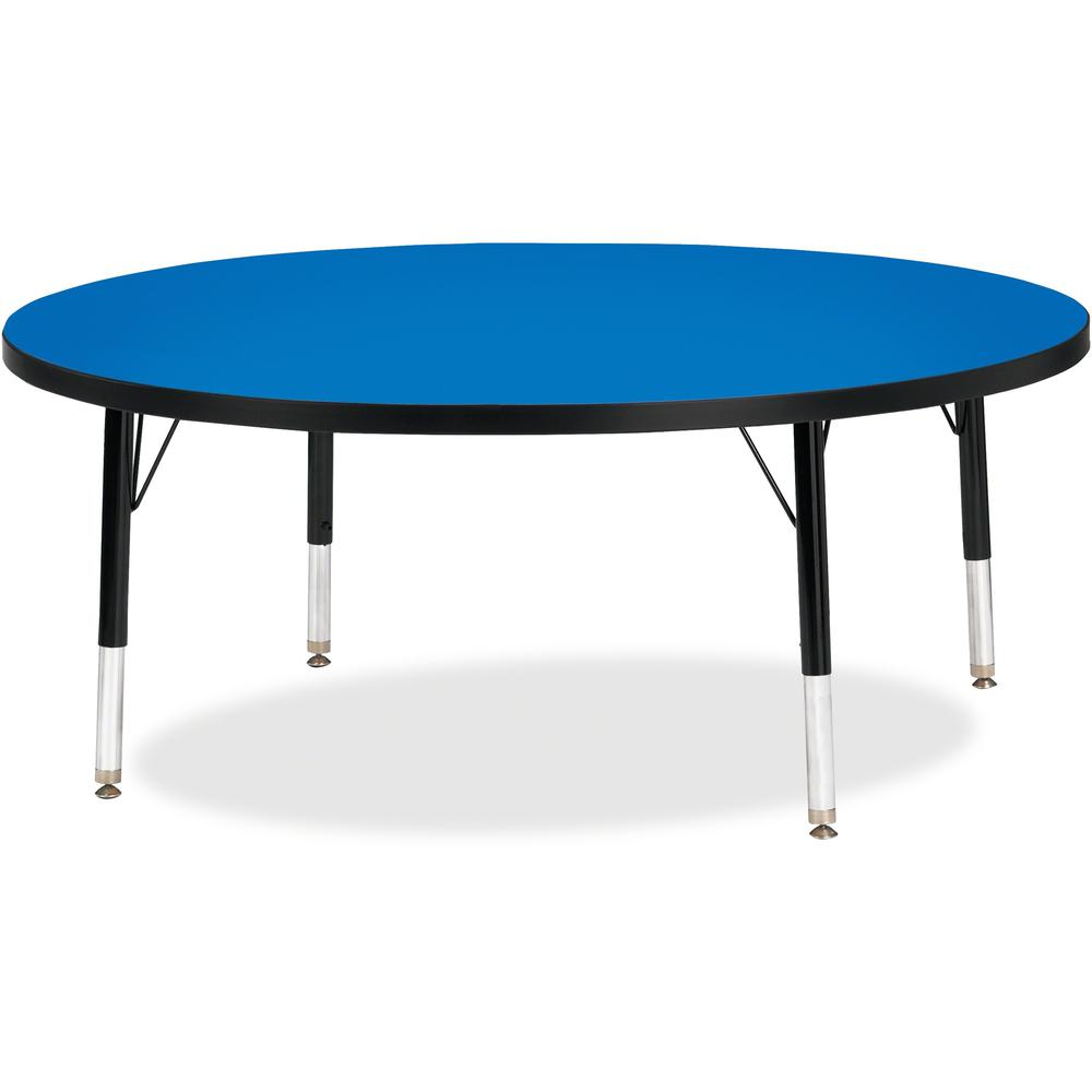 "Jonti-Craft Berries Toddler Height Color Top Round Table - Blue Round, Laminated Top - Four Leg Base - 4 Legs - 1.13"" Table Top Thickness x 48"" Table Top Diameter - 15"" Height - Assembly Required - Po. Picture 1"
