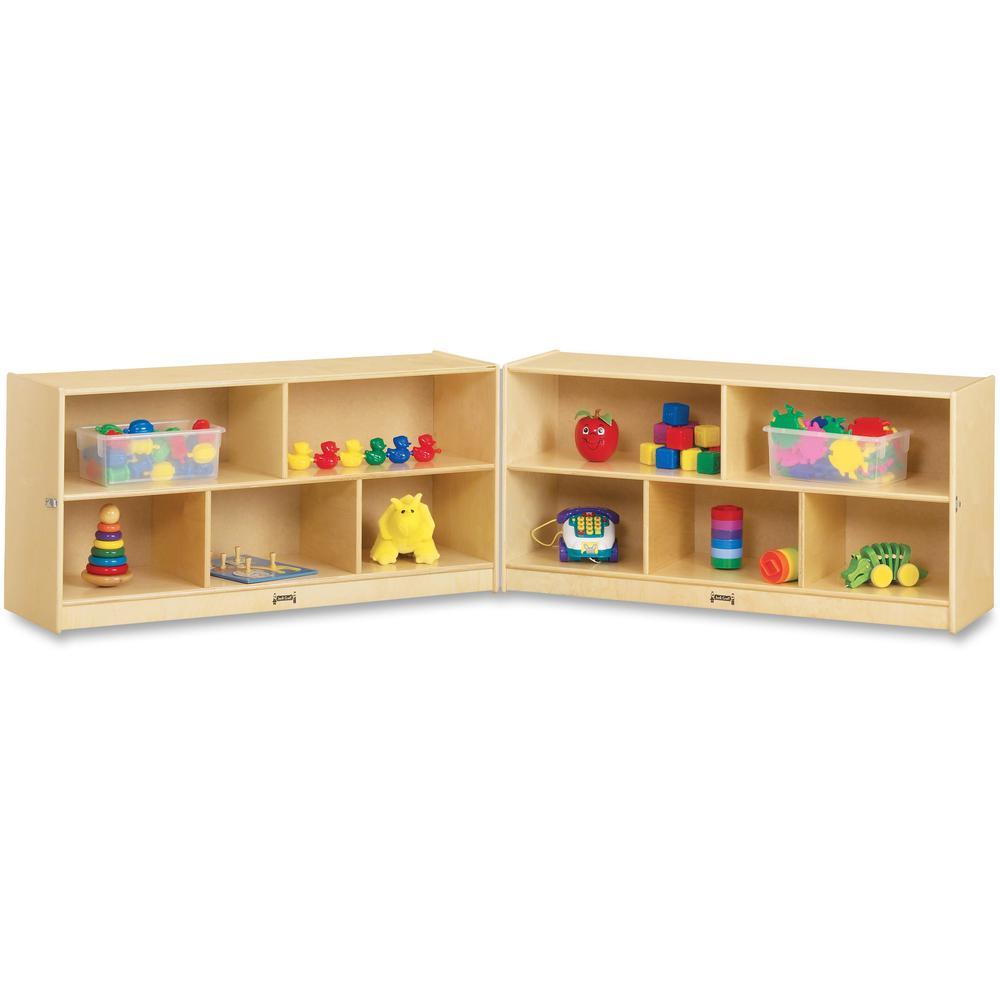 "Jonti-Craft Toddler Fold-n-Lock Mobile Storage - 24.5"" Height x 96"" Width x 15"" Depth - Baltic - Hard Rubber - 1Each. Picture 1"