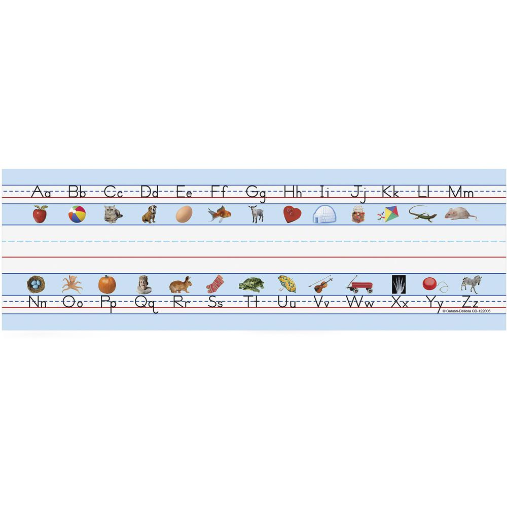 """Carson Dellosa Education PreK-Grade 5 Student Nameplates - Learning Theme/Subject (Alphabet) Shape - 0.31"""" Height x 2.88"""" Width x 9.50"""" Length - Multicolor - 36 / Pack. Picture 1"""