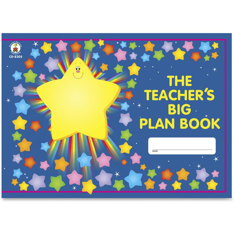 "Carson Dellosa Education Grades K-5 Teacher's Big Plan Book - Academic - 13"" x 9 1/4"" Sheet Size - 9.5"" Height x 13"" Width - Class Schedule - 1 Each. Picture 1"