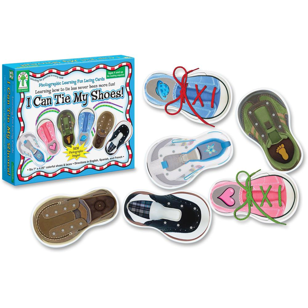 Carson Dellosa Education PreK-Grade 1 I Can Tie My Shoes Cards Set - Theme/Subject: Learning - Skill Learning: Motor Skills, Eye-hand Coordination - 4-7 Year - 6 Pieces. Picture 1