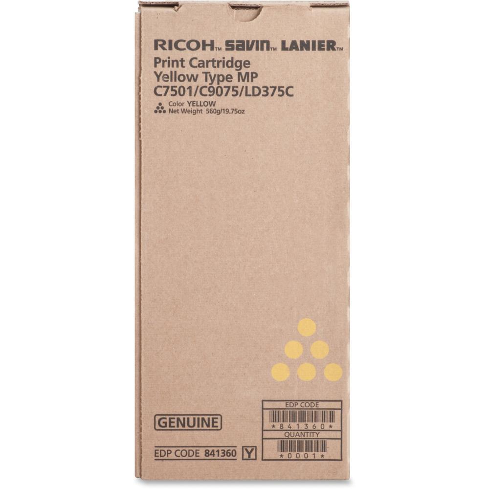 Ricoh 841360 Original Toner Cartridge - Laser - Yellow - 1 Each