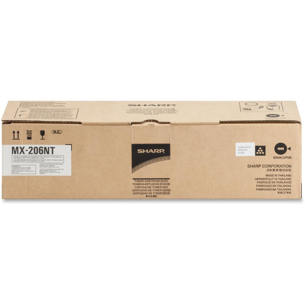 Sharp MX206NT Original Toner Cartridge - Laser - 16000 Pages - Black - 1 Each. Picture 1