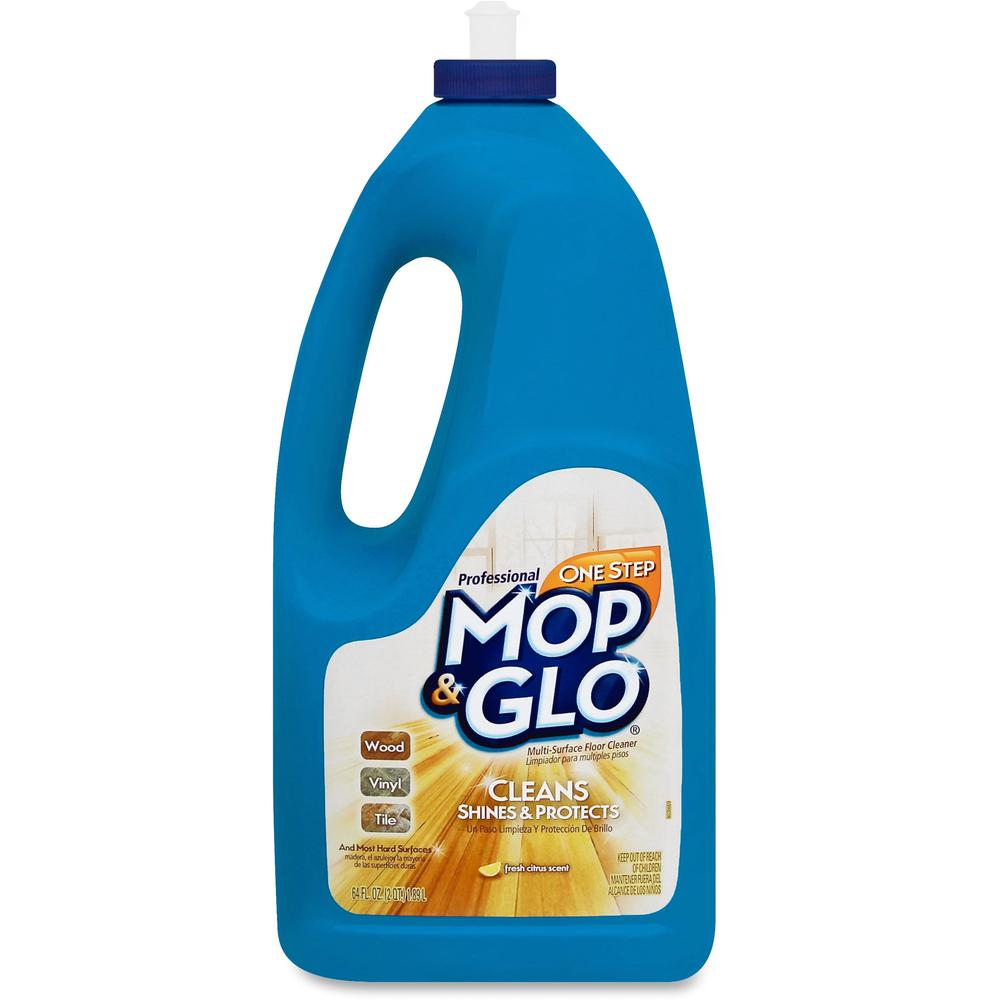 Mop Amp Glo One Step Mop Glo Cleaner 64 Oz 4 Lb Lemon
