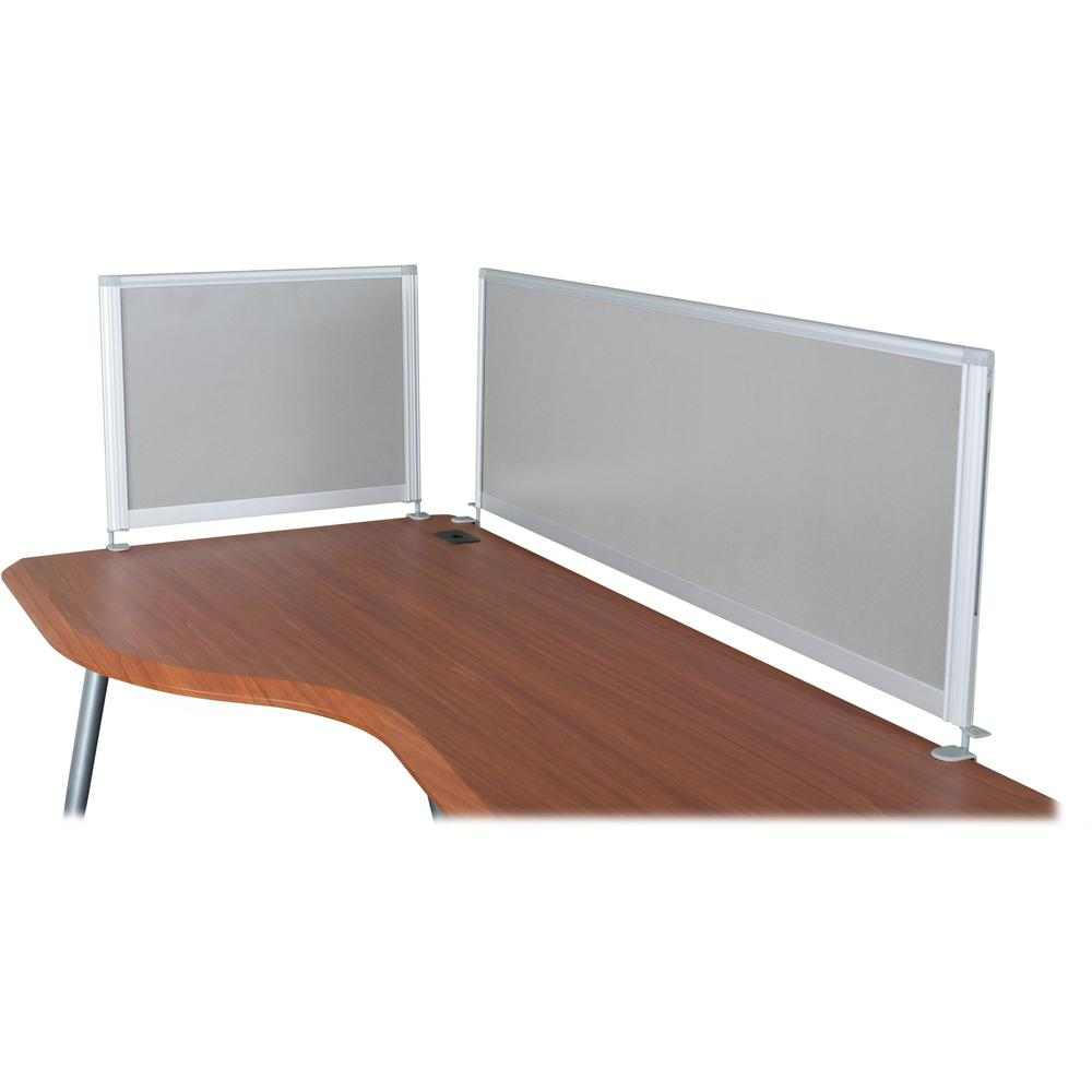 """MooreCo iFlex Modular Desking Full Privacy Panel - 49"""" Width x 17"""" Height x 1"""" Depth - Gray. Picture 1"""