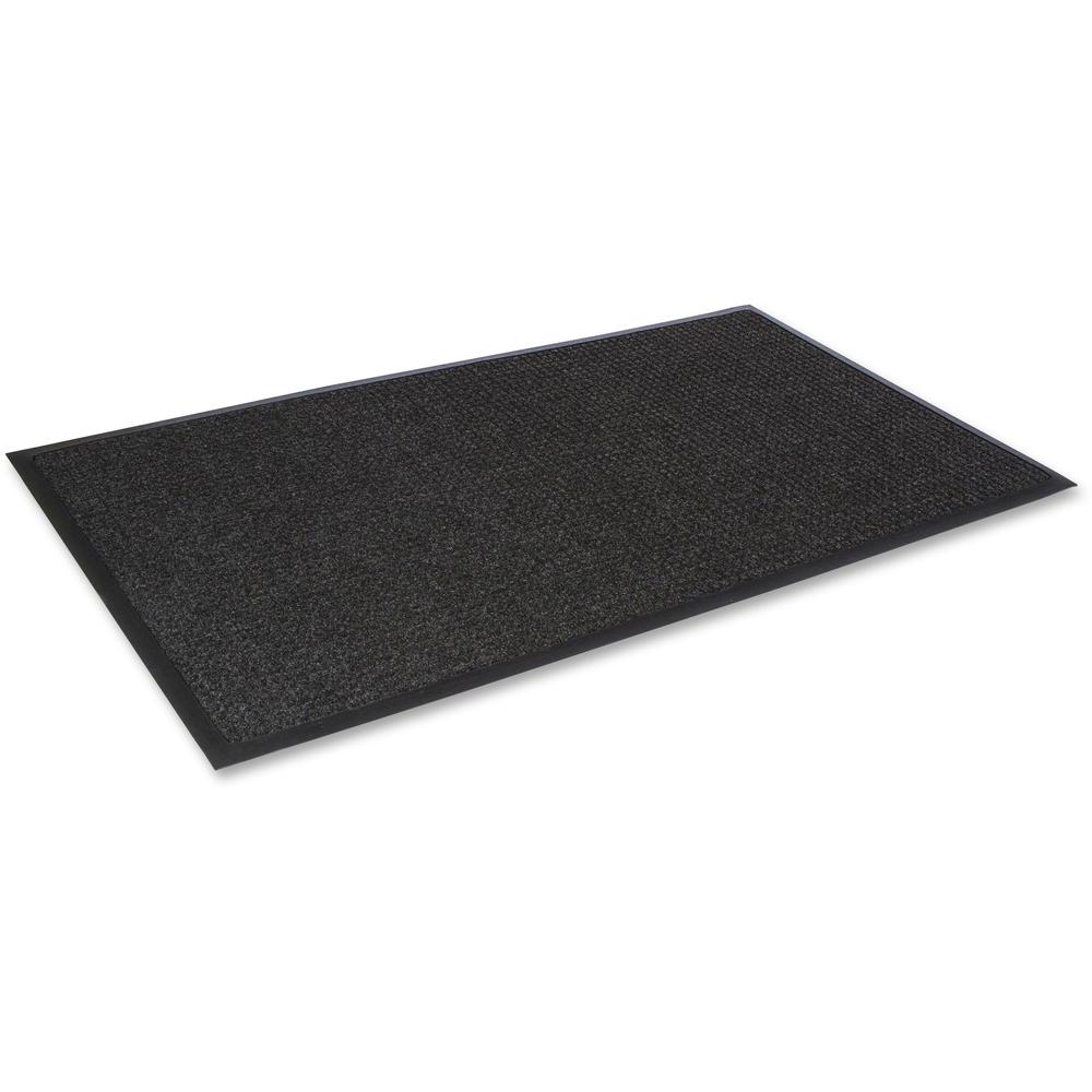 "Crown Mats Super-Soak Wiper Scraper Mat - Floor - 68"" Length x 45"" Width x 0.38"" Thickness - Rectangle - Rubber, Polypropylene - Charcoal. Picture 1"