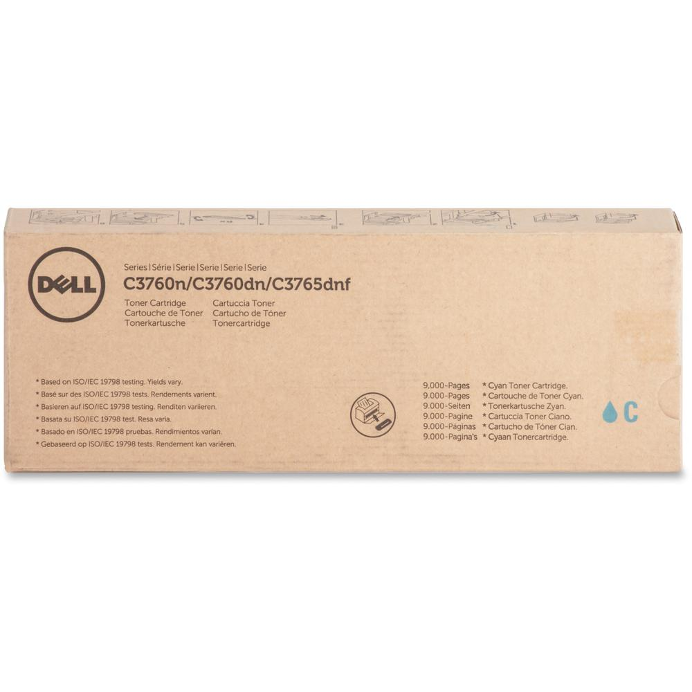 Dell Toner Cartridge - Laser - Extra High Yield - 9000 Pages - Cyan - 1 Each. Picture 1