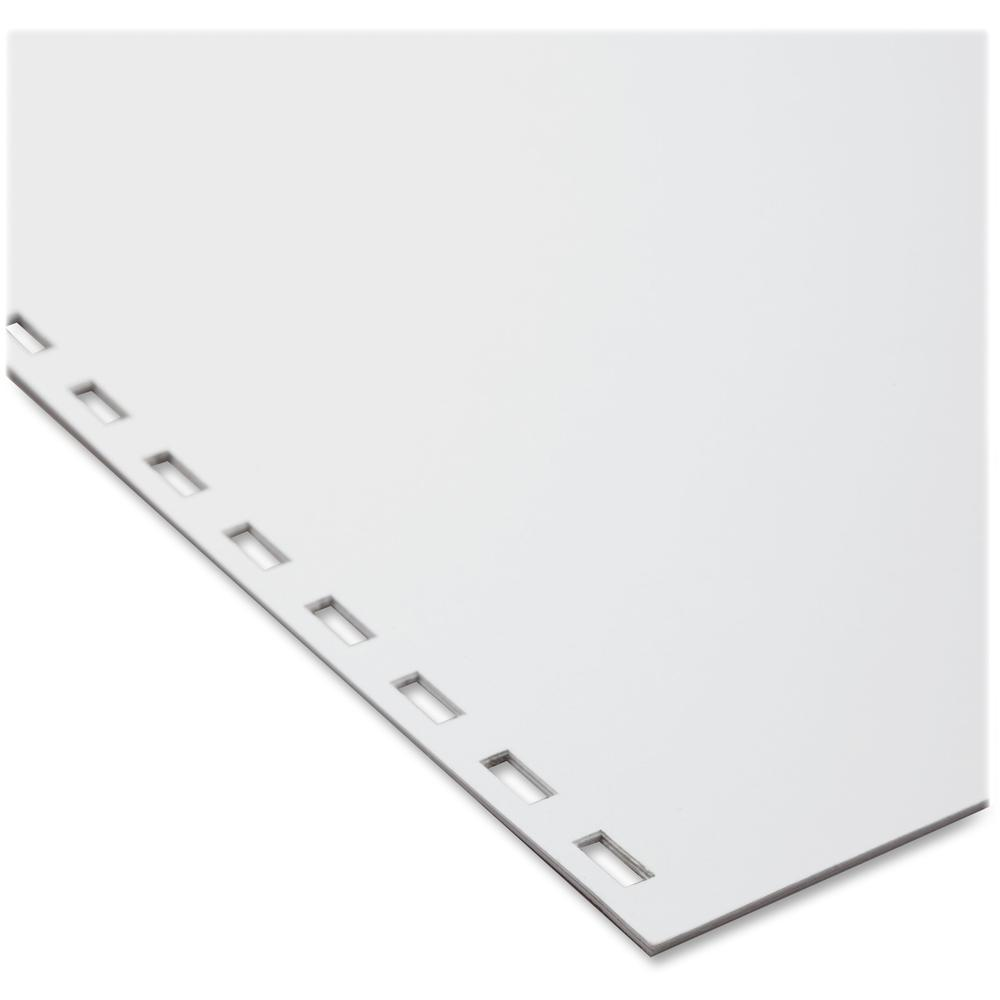 """GBC CombBind 19-Hole Punched Inkjet, Laser Binder Paper - Letter - 8 1/2"""" x 11"""" - 20 lb Basis Weight - 500 / Pack - White. Picture 1"""
