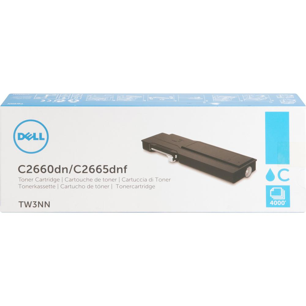 Dell Toner Cartridge - Laser - High Yield - 4000 Pages - Cyan - 1 / Pack. Picture 1