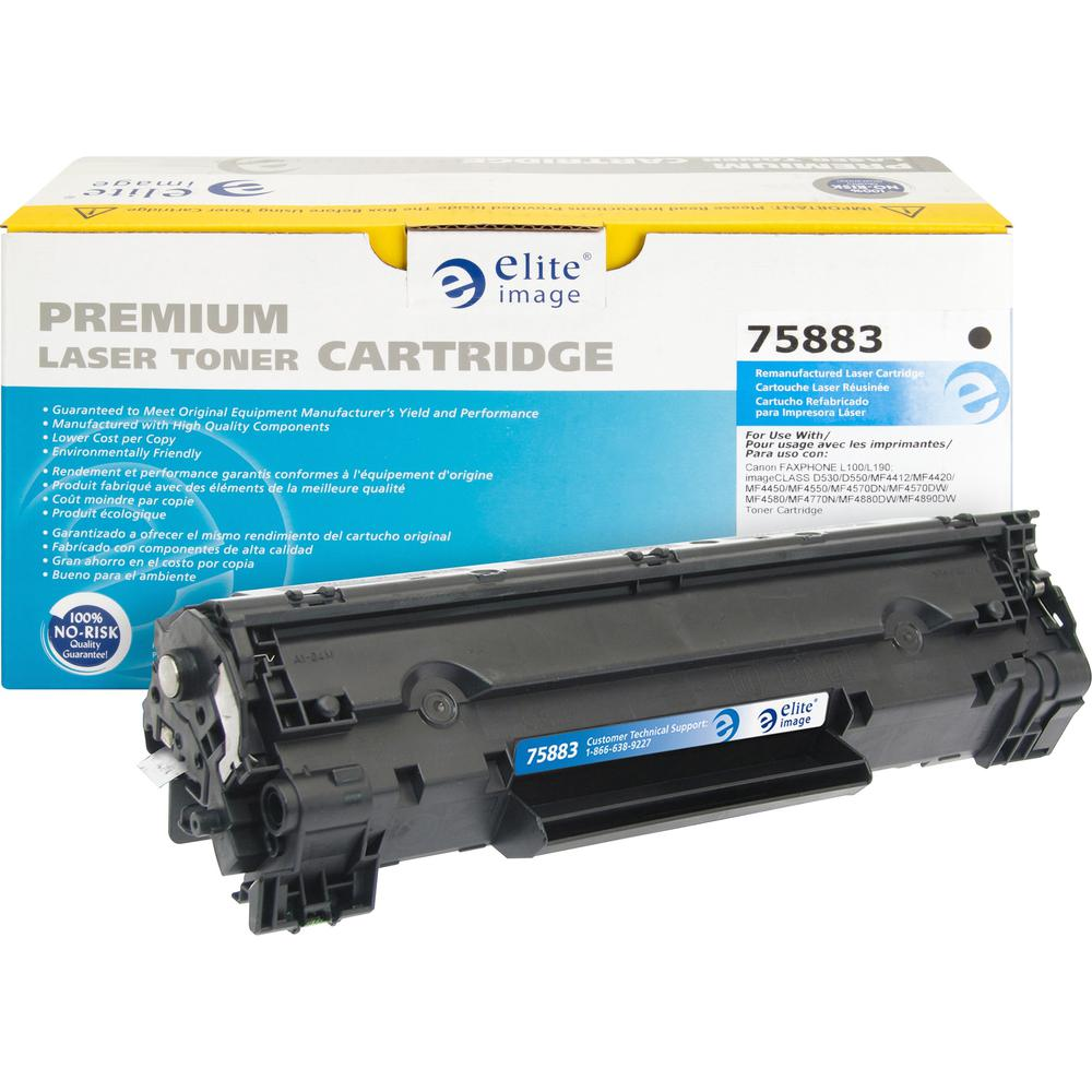 Elite Image Remanufactured Toner Cartridge - Alternative for Canon (128) - Laser -2100 - Black - 1 Each. Picture 1