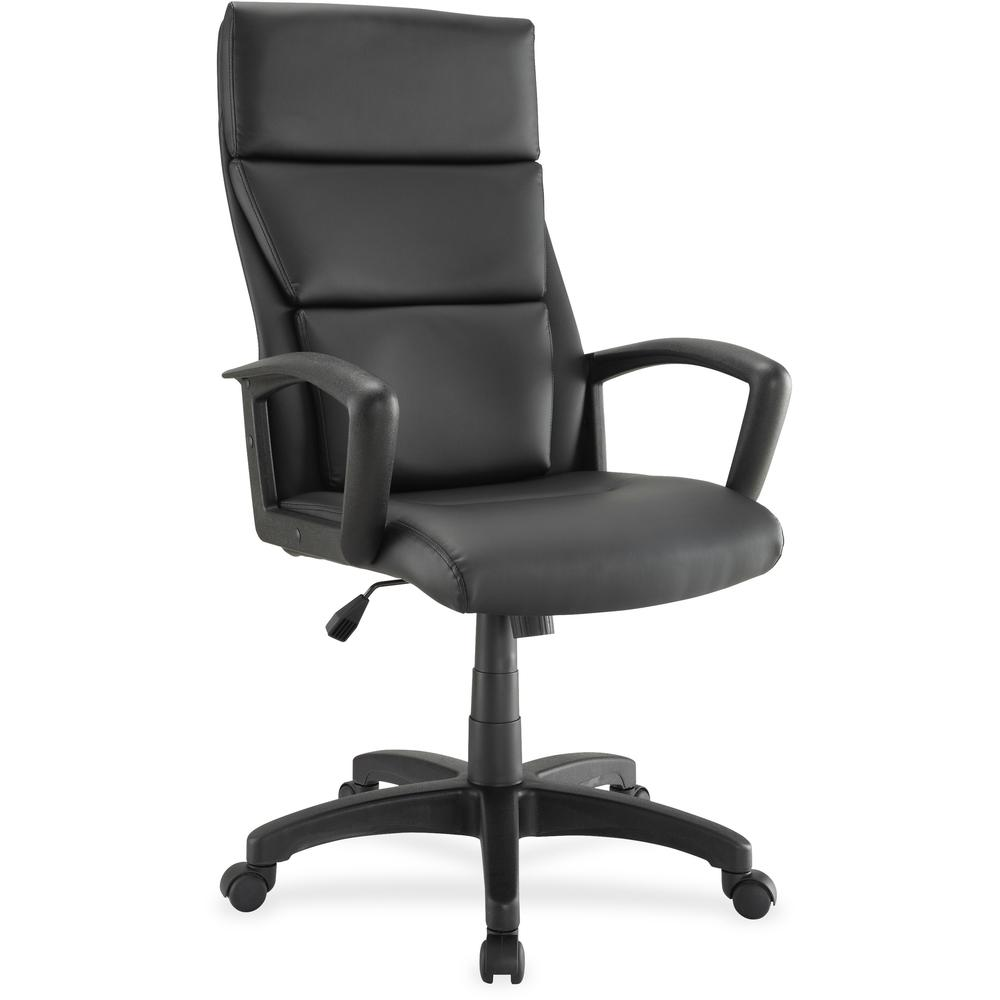 Lorell euro design leather executive high back chair for Chair design leather