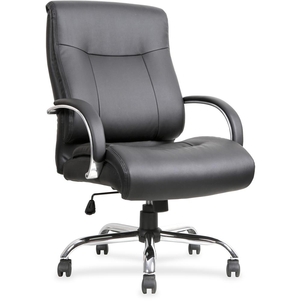 Lorell Leather Deluxe Big Tall Chair Bonded Leather