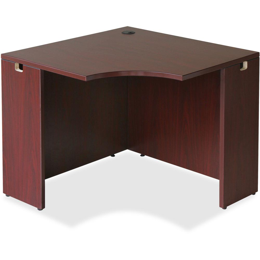 Lorell Essentials Series Gany Corner Desk Rectangle Top 35 38 Table Width X