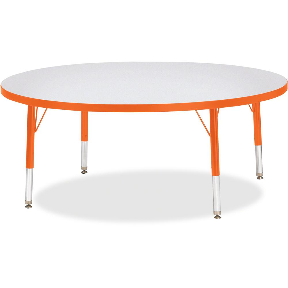 """Jonti-Craft Berries Toddler Height Color Edge Round Table - Laminated Round, Orange Top - Four Leg Base - 4 Legs - 1.13"""" Table Top Thickness x 48"""" Table Top Diameter - 15"""" Height - Assembly Required -. Picture 1"""
