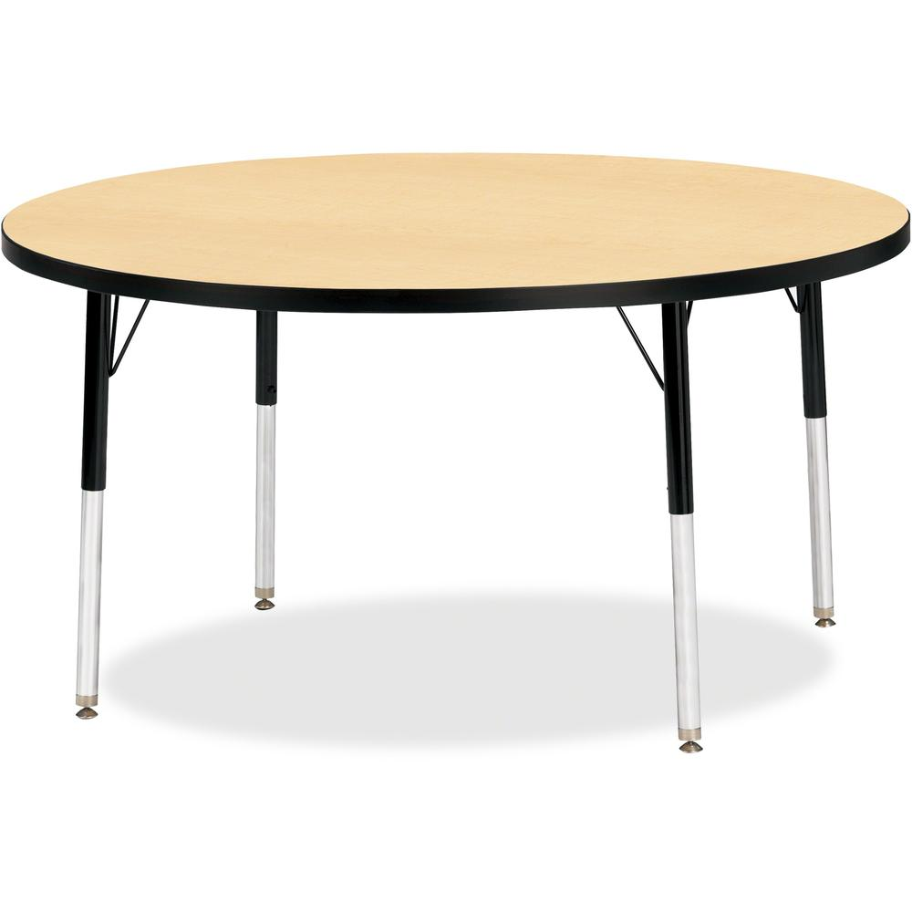 "Berries Adult Height Color Top Round Table - Laminated Round, Maple Top - Four Leg Base - 4 Legs - 1.13"" Table Top Thickness x 48"" Table Top Diameter - 31"" Height - Assembly Required - Powder Coated -. Picture 1"