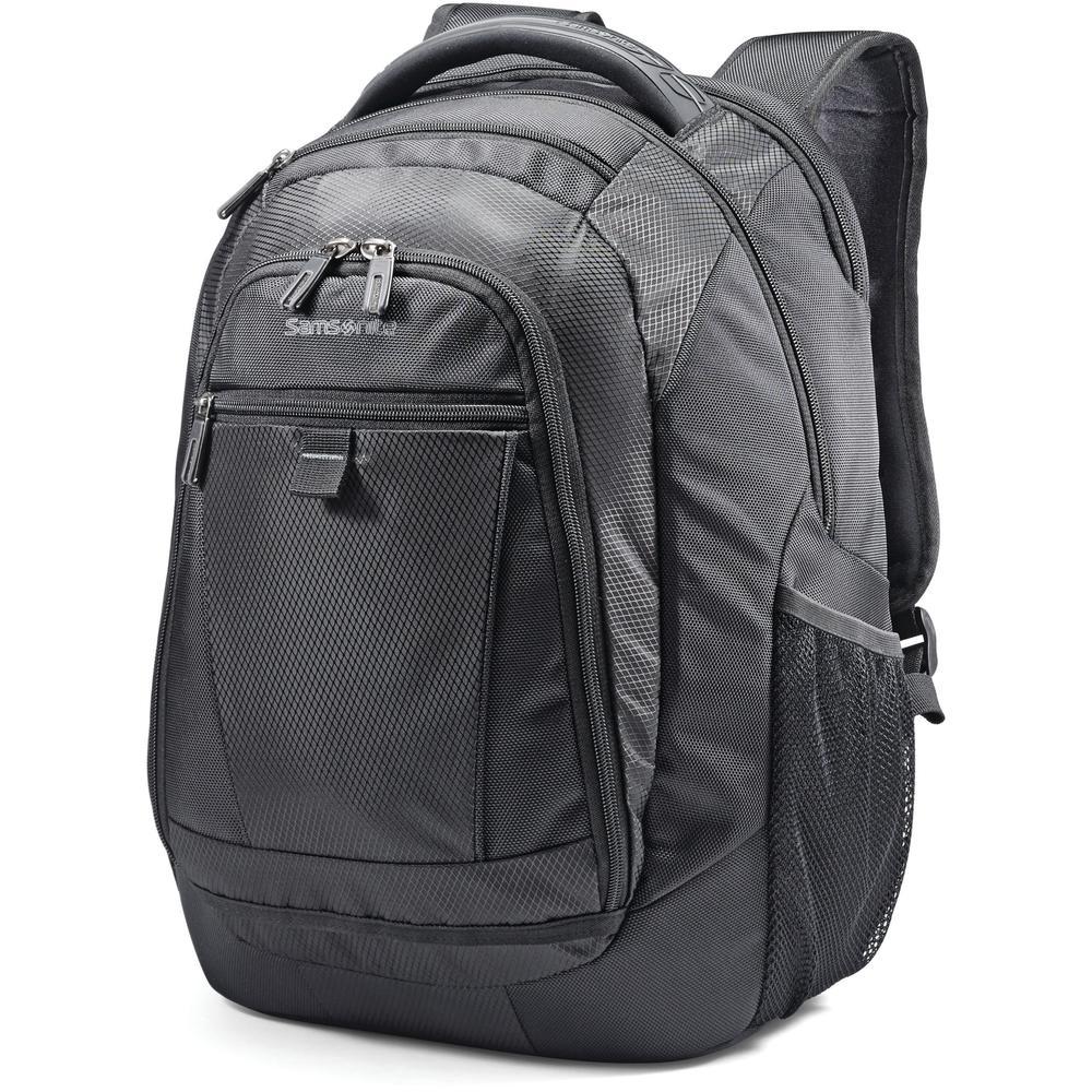 "Samsonite Tectonic 2 Carrying Case (Backpack) for 15.6"" Notebook - Black - Shock Resistant Interior, Slip Resistant Shoulder Strap - Poly Ballistic, Tricot Interior - Shoulder Strap, Handle - 16.9"" He. Picture 1"