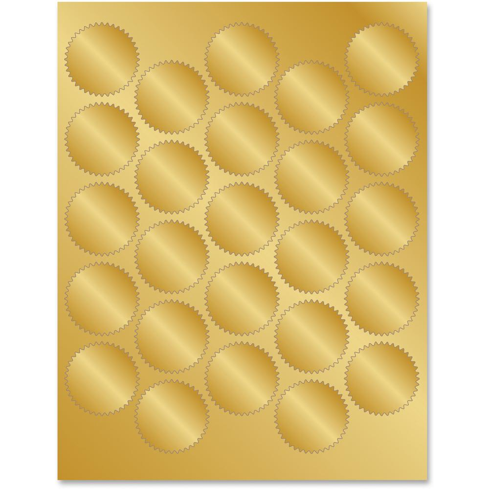 Geographics Gold Foil Seals Self Adhesive For