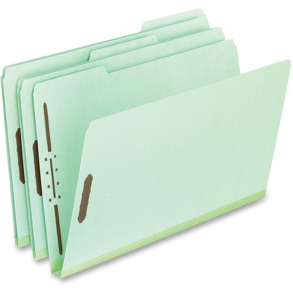"Pendaflex Legal-size Heavyweight Pressboard Folders - Legal - 8 1/2"" x 14"" Sheet Size - 1"" Expansion - 2"" Fastener Capacity - 1/3 Tab Cut - Top Tab Location - Assorted Position Tab Position - 25 pt. F. Picture 1"