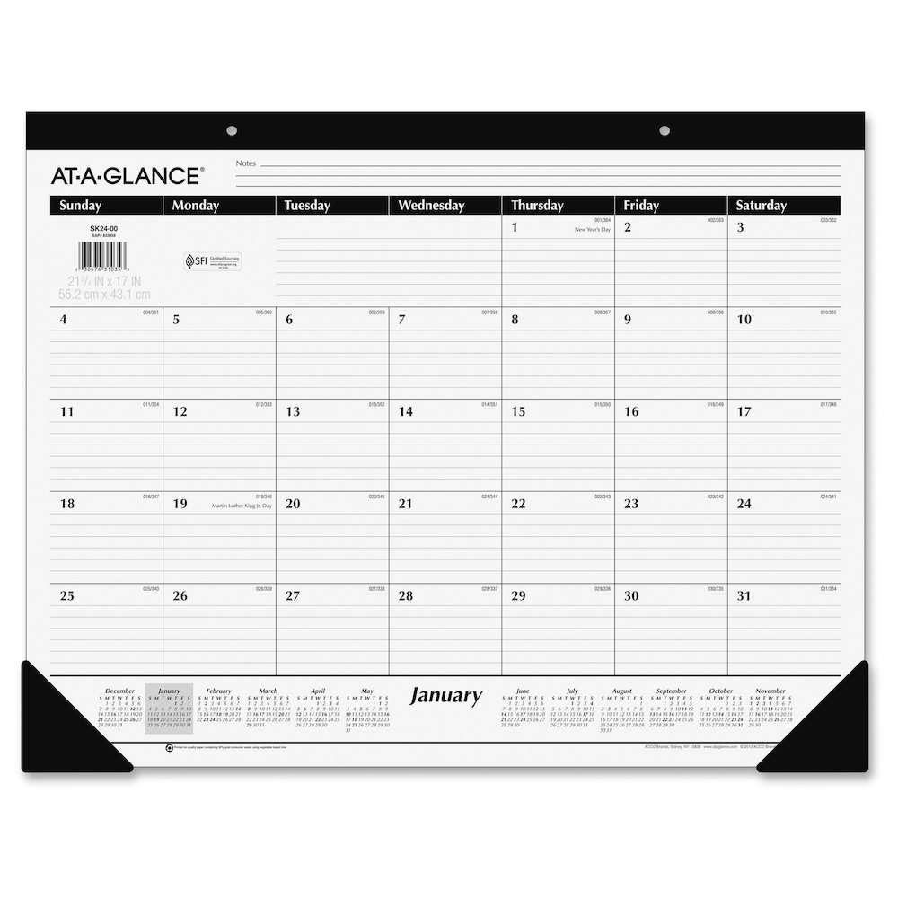 At A Glance Classic Monthly Desk Pad Julian Daily