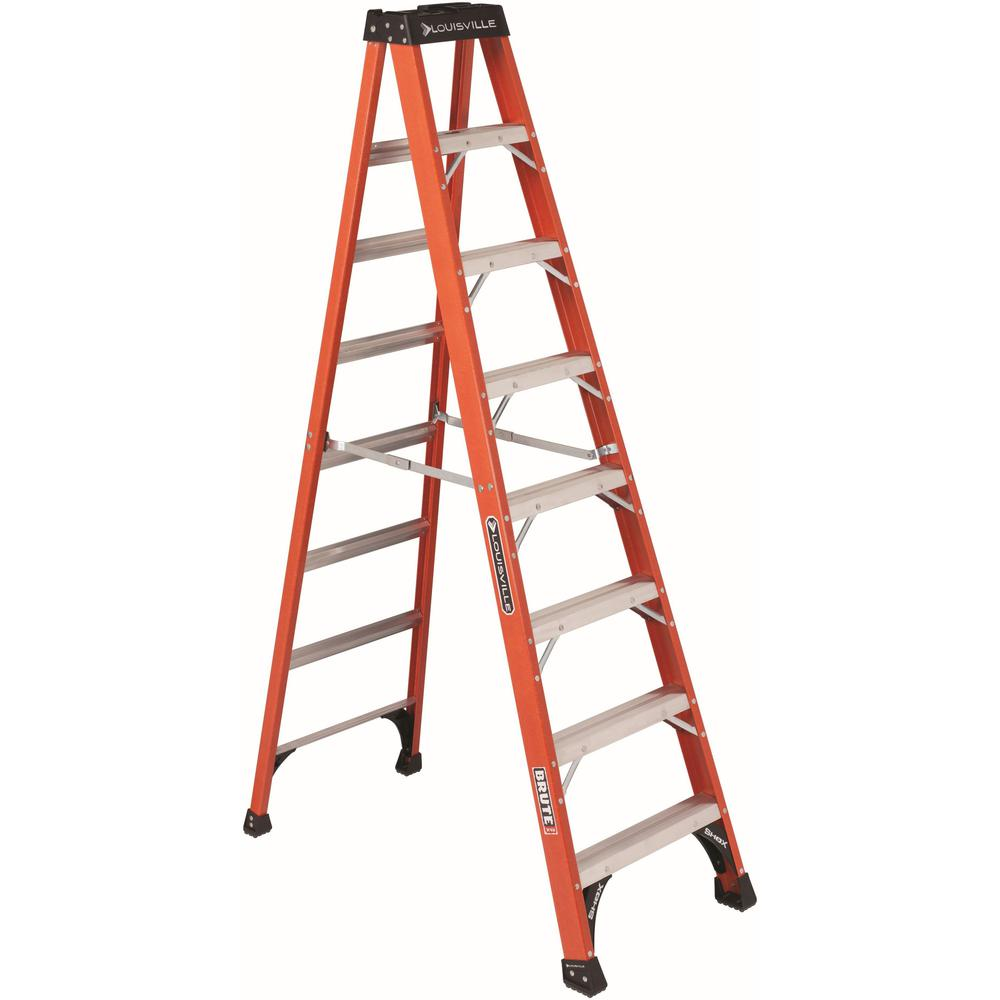 Louisville 8 Ft Fiberglass Step Ladder 7 Step 375 Lb