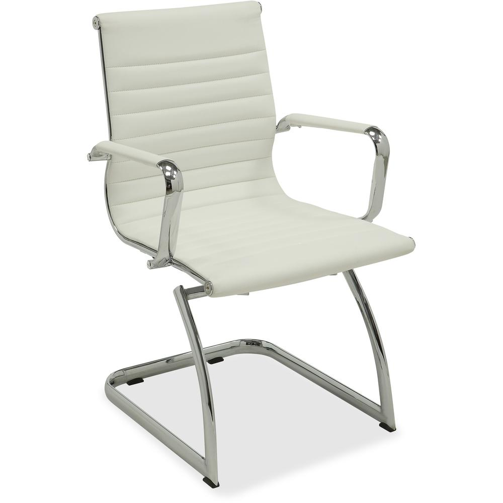 lorell modern guest chair bonded leather seat bonded leather