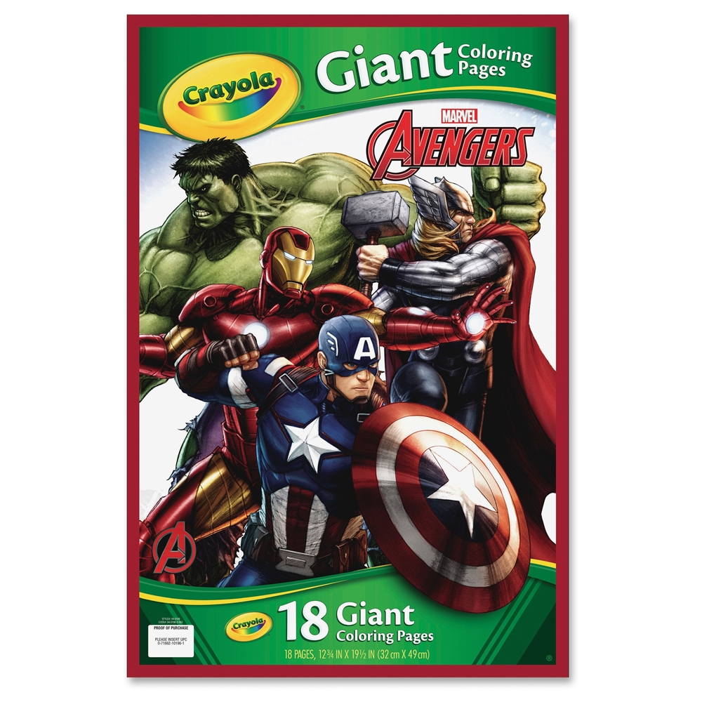 Crayola Marvel Avengers Giant Coloring Pages 18 Pages 19 1 2 X