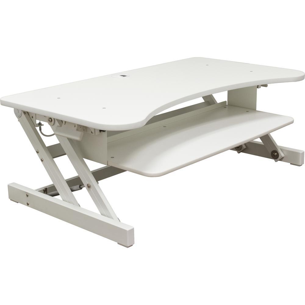 Lorell Deluxe Adjustable Desk Riser 16 Quot Height X 37 5
