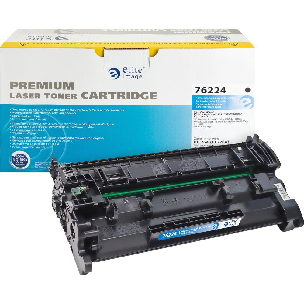 Elite Image Toner Cartridge - Alternative for HP 23A (CF226A) - Black - Laser - 3100 Pages - 1 Each. Picture 1