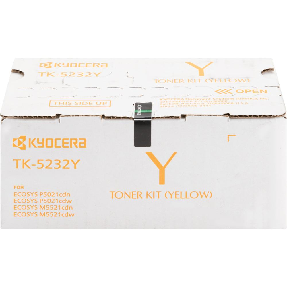 Kyocera TK-5232Y Original Toner Cartridge - Yellow - Laser - High Yield - 2200 Pages - 1 Each. Picture 1