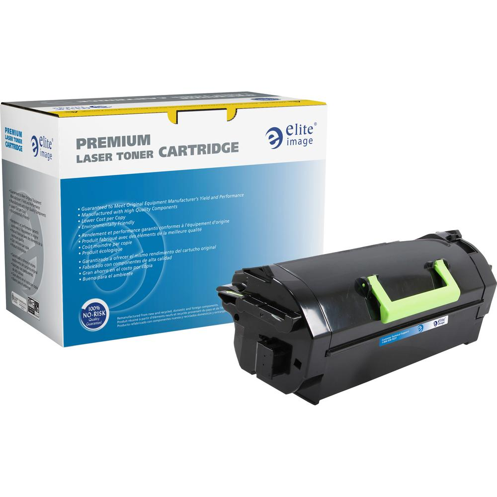 Elite Image Remanufactured MICR Toner Cartridge - Alternative for Lexmark 52D1H00 - Black - Laser - High Yield - 25000 Pages - 1 Each. Picture 1