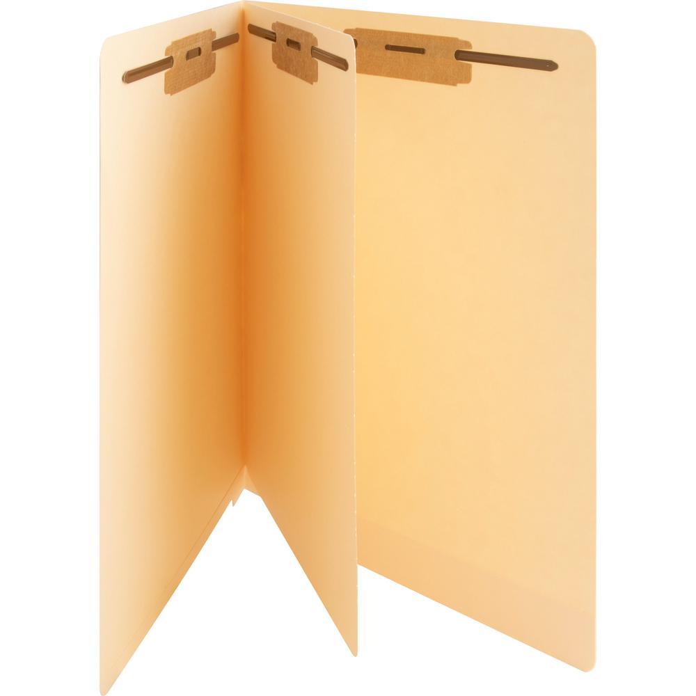 """Business Source 3/4"""" Expanding Medical File Folders - Letter - 8 1/2"""" x 11"""" Sheet Size - 3/4"""" Expansion - 2"""" Fastener Capacity - End Tab Location - 11 pt. Folder Thickness - Manila - Recycled - 40 / B. Picture 1"""