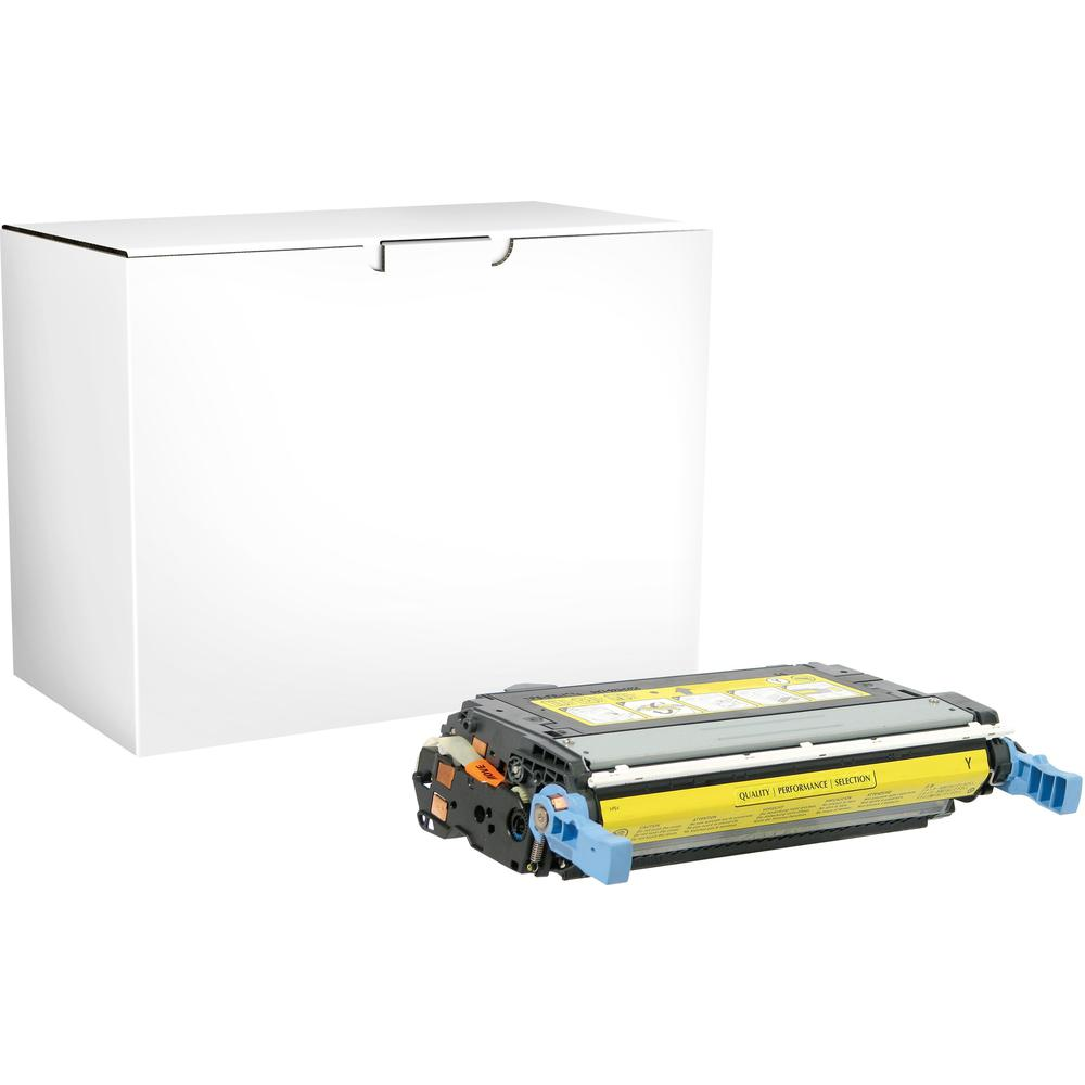 Elite Image Remanufactured Toner Cartridge - Alternative for HP 644A - Yellow - Laser - 12000 Pages - 1 Each. Picture 1