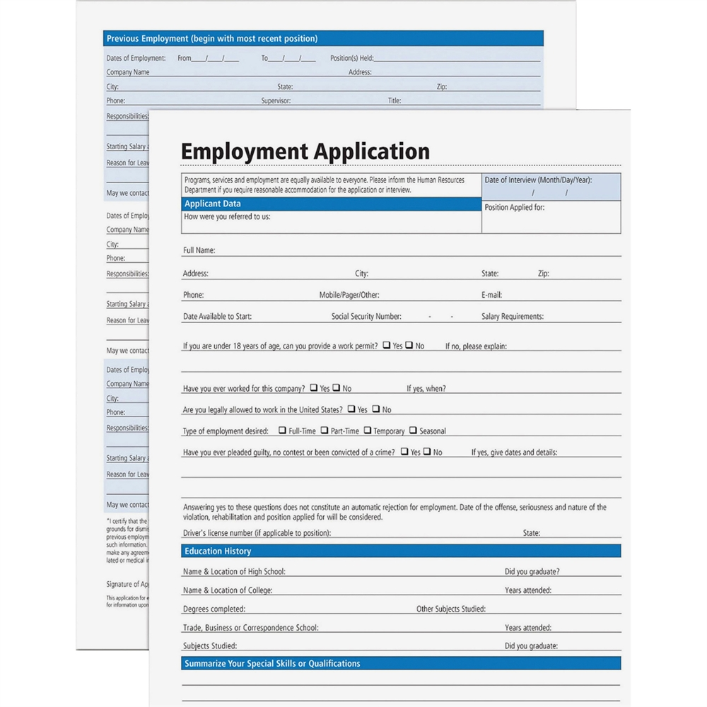 Adams Employment Application Forms Forms And Instructions