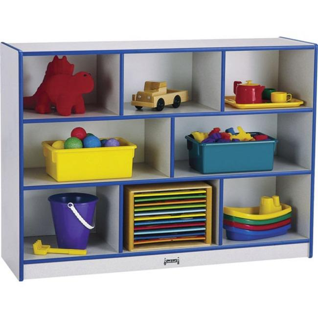 """Rainbow Accents Rainbow Super-sized Mobile Storage - 35.5"""" Height x 48"""" Width x 15"""" Depth - Floor - Teal - Hard Rubber - 1Each. Picture 1"""