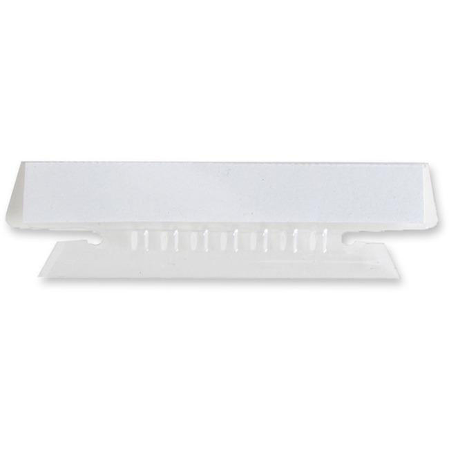 """Business Source Plastic Clear Tabs - 25 Tab(s)3.50"""" Tab Width - Clear Plastic Tab(s) - 25 / Pack. Picture 1"""