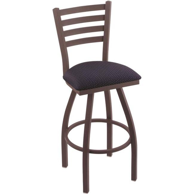 "Holland Bar Stools Bar Stool Jackie Swivel Stool - Black High Density Foam (HDF), Hardwood, Vinyl, Fabric Seat - Maple Powder Coated Steel, Polyester Frame - Four-legged Base - 19"" Length x 19"" Width . Picture 1"