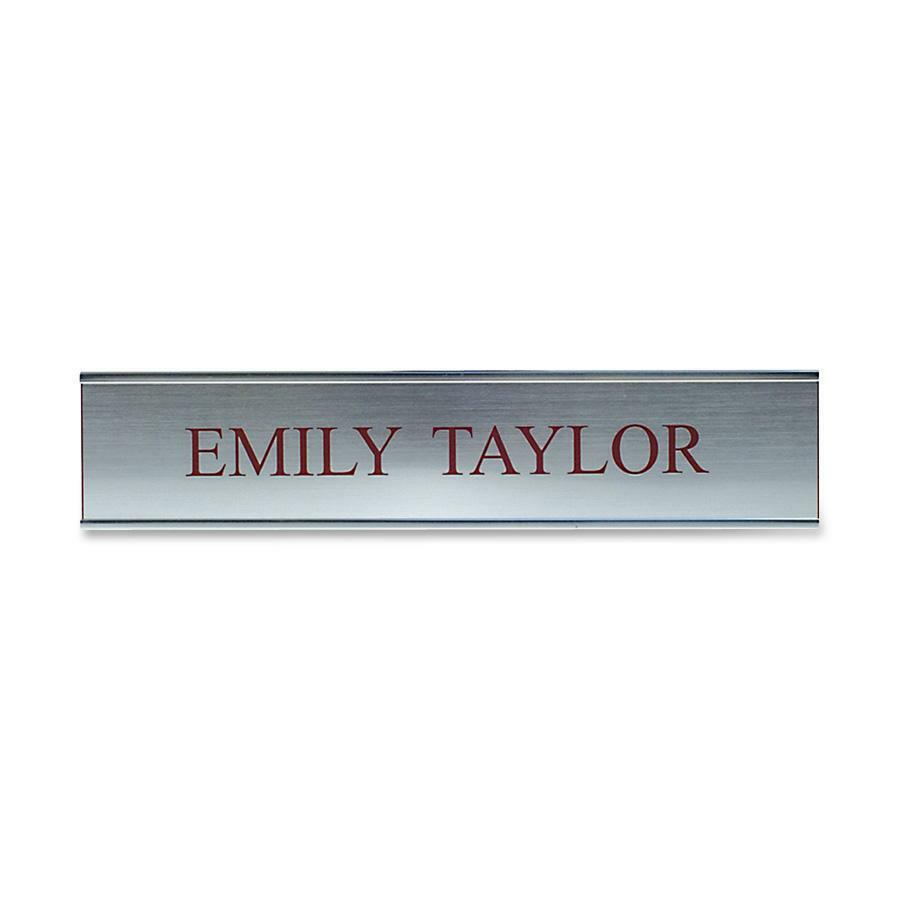 """Xstamper Xecutives Silver Aluminum Wall Signs - 1 Each - 10"""" Width x 2"""" Height - Aluminum - Silver. Picture 1"""