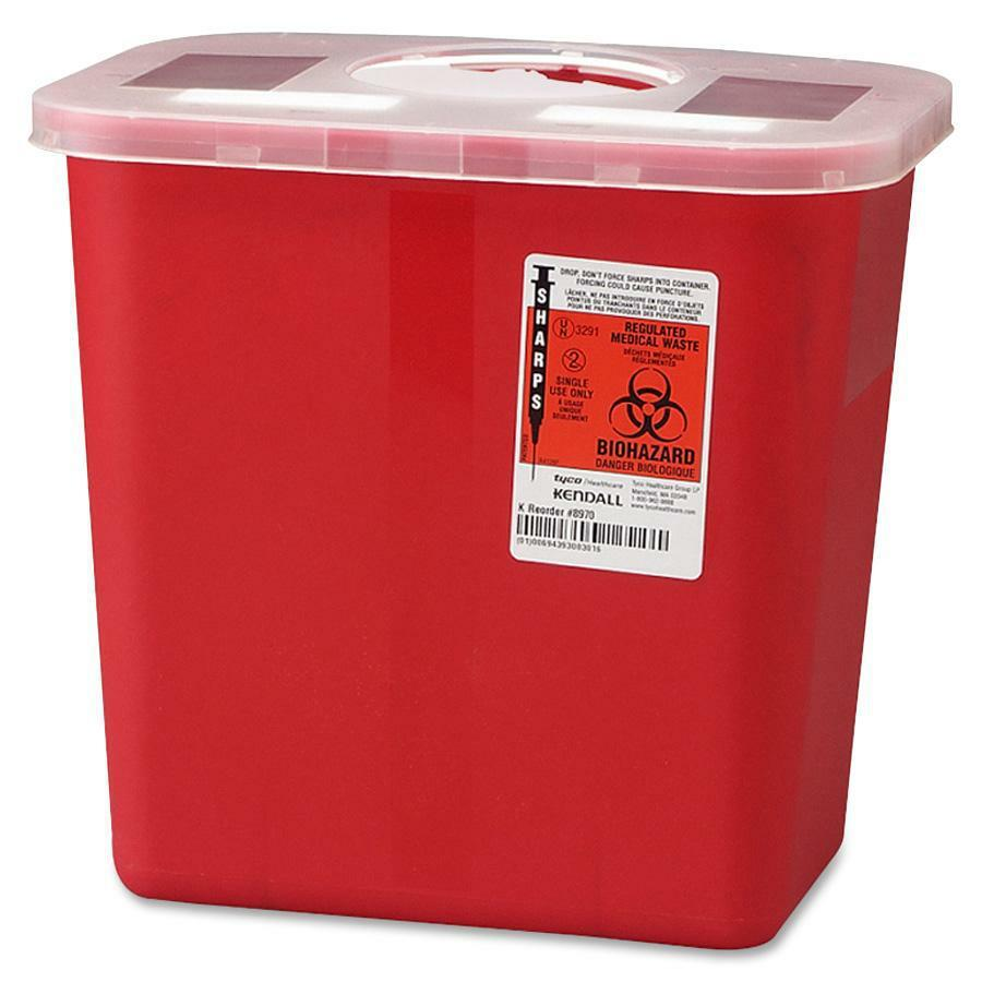 Covidien Sharps 2 Gallon Container With Rotor Lid 2 Gal