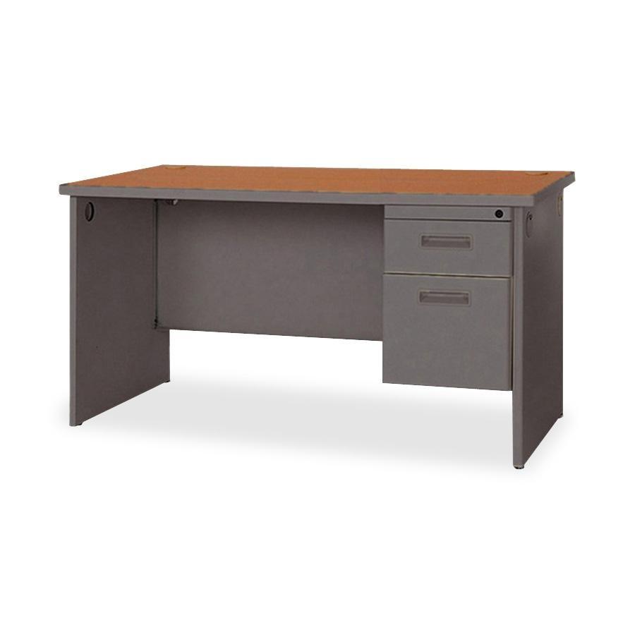 Lorell Durable Single Pedestal Desk 48 Quot X 30 Quot 2 X Box