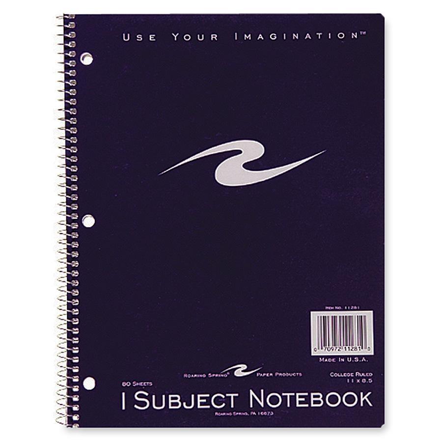 Roaring Spring Full Sz Sngle Sub Wirebnd Notebook 80