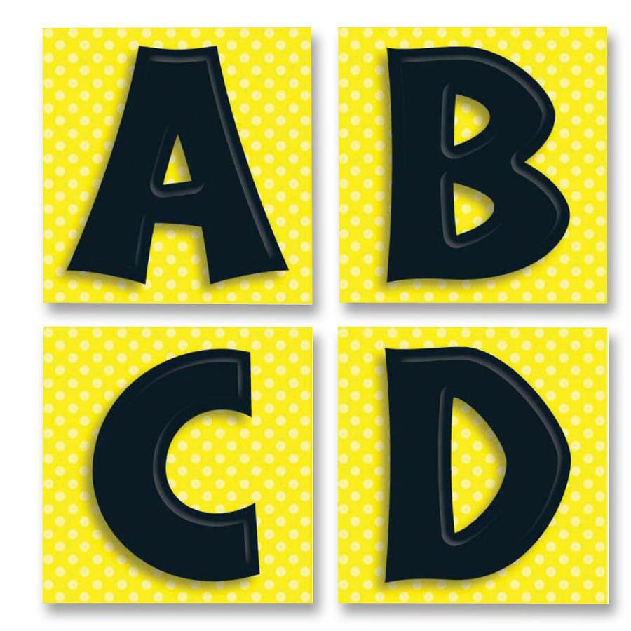 """Carson Dellosa Education Quick Stick Bold Letters - Self-adhesive - Reusable - 3"""" Height x 3"""" Width - Black - 1 Pack. Picture 1"""