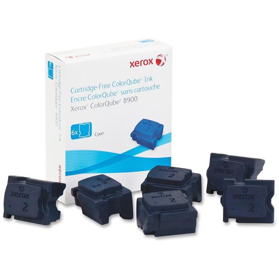 Xerox Solid Ink Stick - Solid Ink - Cyan - 6 / Box