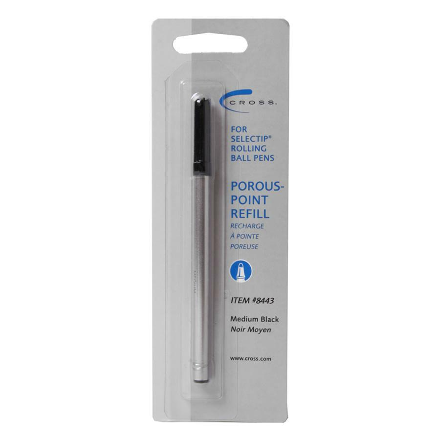 Cross Selectip Porous Point Pen Refills - Medium Point - Black Ink - 1 Each. Picture 1