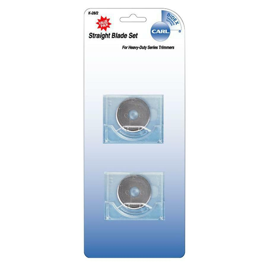 """CARL Rotary Trimmer Straight Blade Set - 1.10"""" Length - Straight Style - Steel - 1 / Set - Silver. Picture 1"""