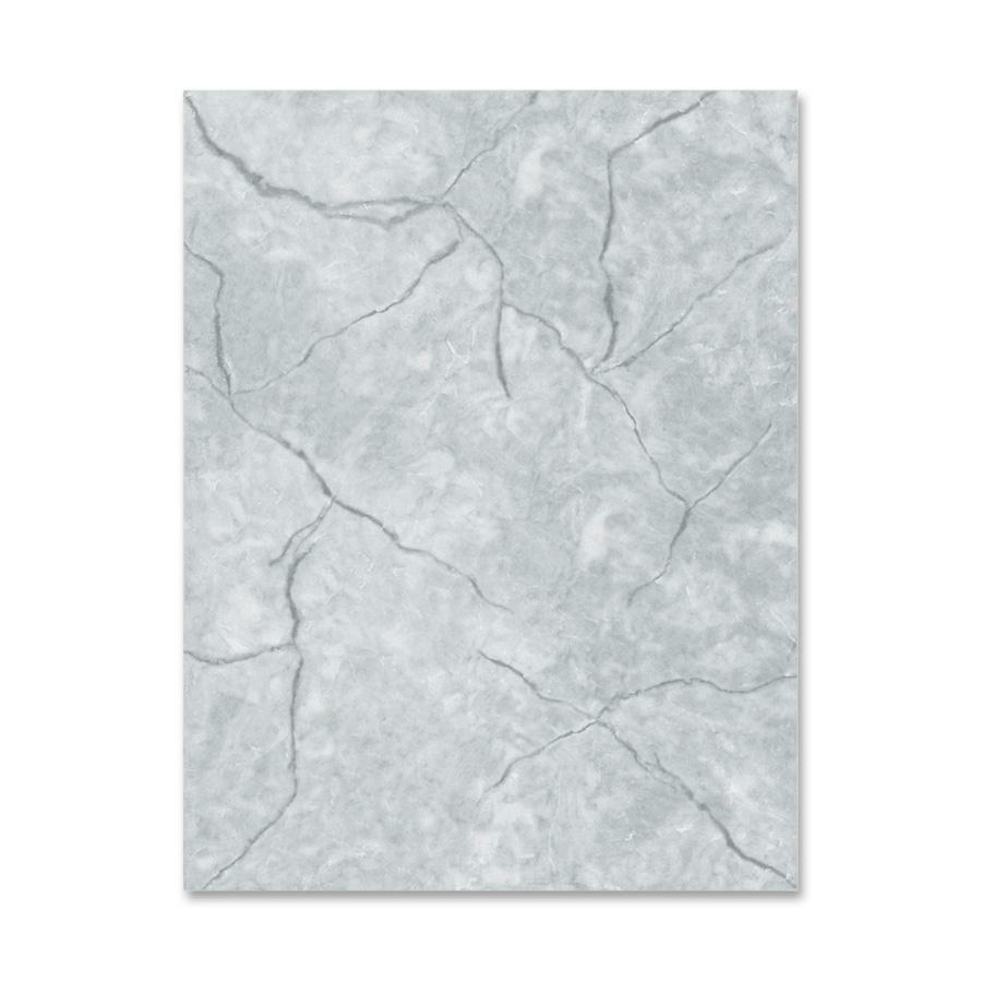 """Geographics Marble-Gray Image Stationery - Letter - 8 1/2"""" x 11"""" - 60 lb Basis Weight - 100 / Pack - Gray. Picture 1"""