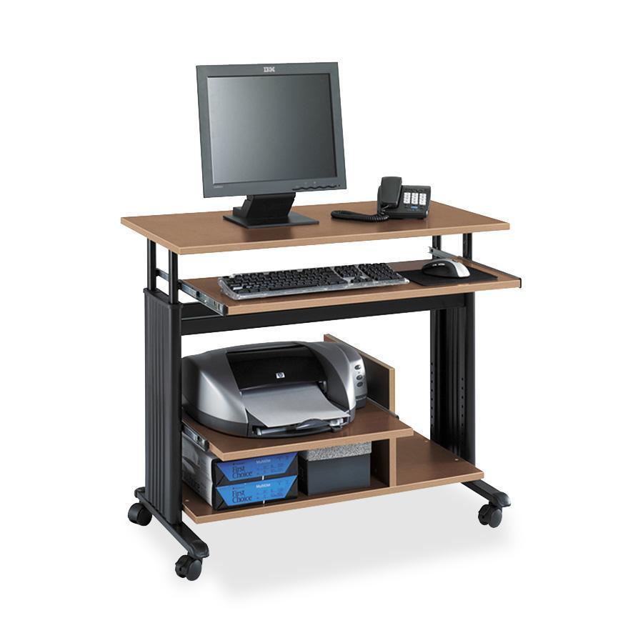 Safco adjustable mini tower workstation rectangle top for Best workstation table