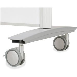 "MooreCo Balt Lumina Multifunctional Mobile Room Divider - 39.5"" Width x 72"" Height x 20"" Depth - Platinum Frame. Picture 2"