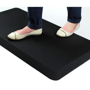 "AFS-TEX Unique System 3000 Anti-Fatigue Mat - Workstation, Stand-up Desk, Reception, Counter - 39"" Length x 20"" Width x 0.80"" Thickness - Rectangle - Polyurethane, Polyester - Midnight Black. Picture 6"