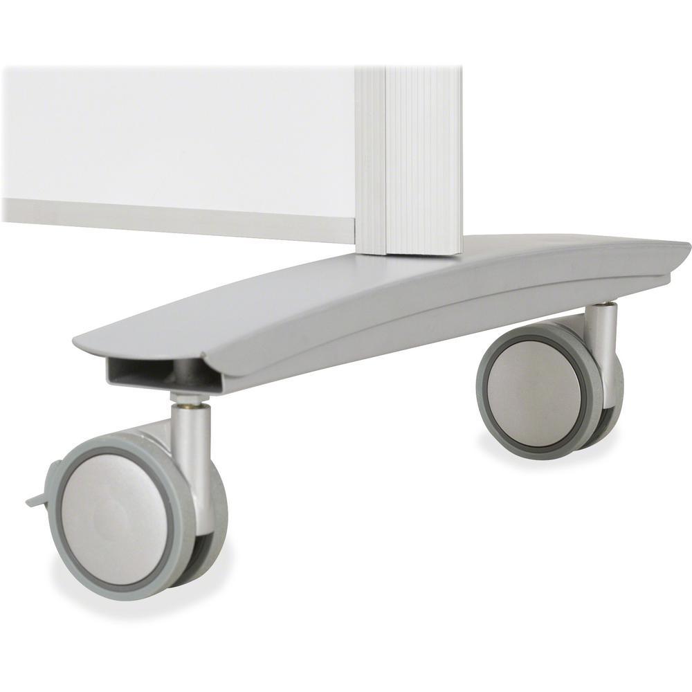 "MooreCo Balt Lumina Multifunctional Mobile Room Divider - 39.5"" Width x 72"" Height x 20"" Depth - Platinum Frame. Picture 5"