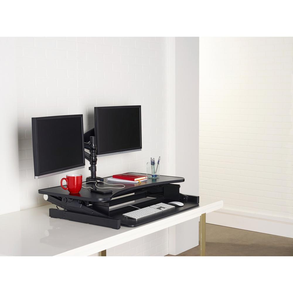 Lorell Deluxe Adjustable Desk Riser 16 Quot Height X 37